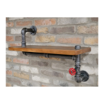Wooden Industrial Pipe Shelf with Valve