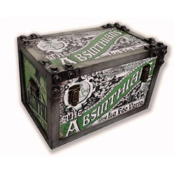 Absinthians Metal Strapped Storage Trunk Small