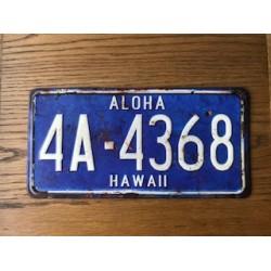 Hawaii Aloha State USA Number Plate