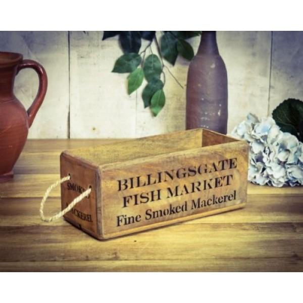 Billingsgate Fish Market Wooden Box
