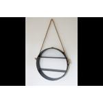 Industrial Hanging Circle Shelf