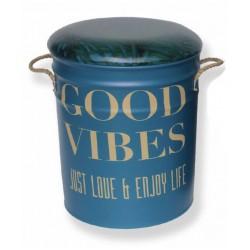Good Vibes Metal Stool Large