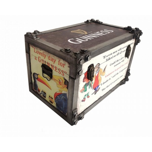 Guinness Metal Strapped Storage Trunk Medium