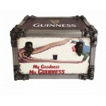 Guinness Metal Strapped Storage Trunk Small