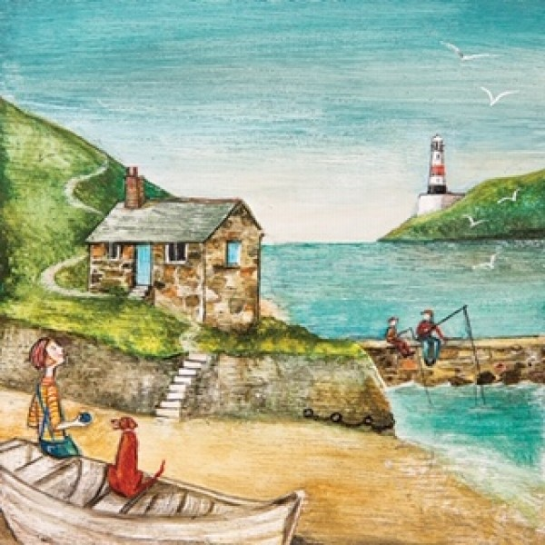 Harbour Beacon Artwork Canvas Print