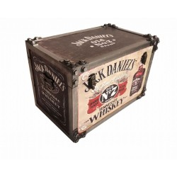 Jack Daniels Iron Effect Strapped Storage Trunk Large
