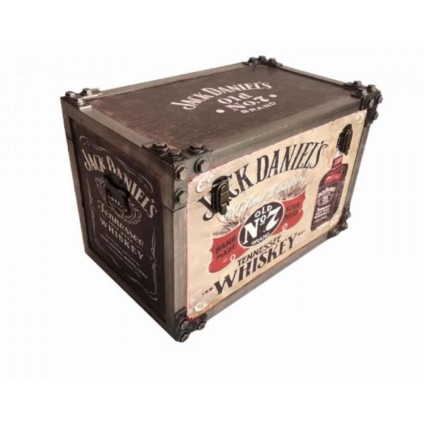 Jack Daniels Metal Strapped Storage Trunk Large