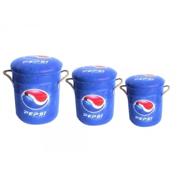 Pepsi Metal Stools