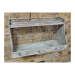 Galvanised Industrial Shelf Unit With Hooks