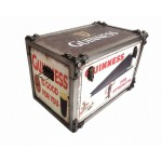 Guinness Iron Effect Strapped Storage Trunk Large