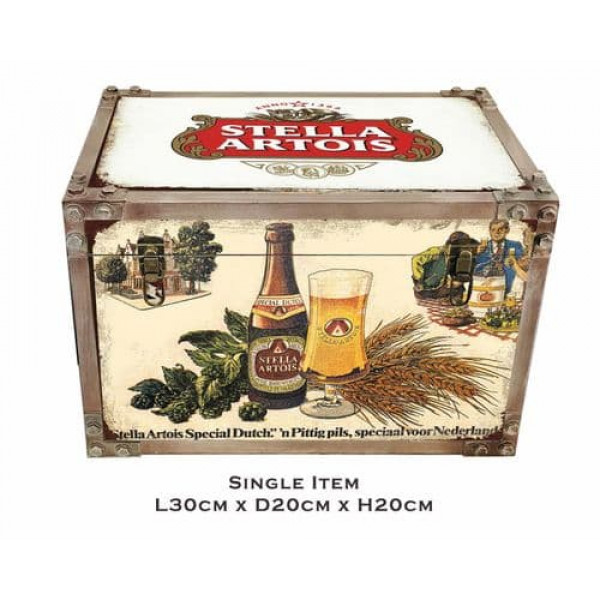 Stella Artois Iron Effect Strapped Tool Trunk Small